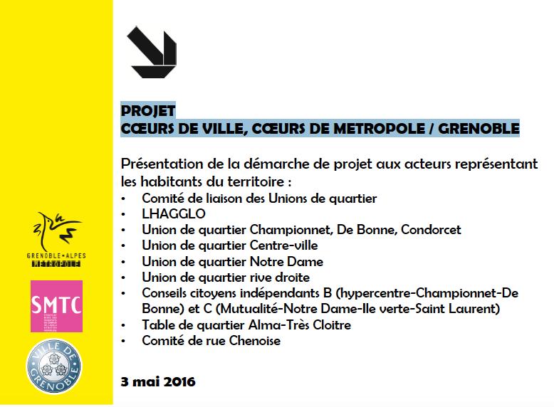 coeurs de ville, coeur de métropole / Grenoble