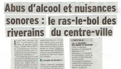Abus d'alcool et nuisances sonores à Grenoble - 2017